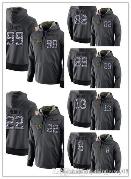 Men's Titans Dark Gray Admiral Sweater Hoodie Outdoor Clothing