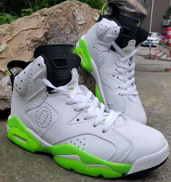 Cheap mens Jumpman 6s basketball shoes retro j6 White Green Wings Oregon Ducks JSP Silver j6 air flights sneakers boots size 7-13 01