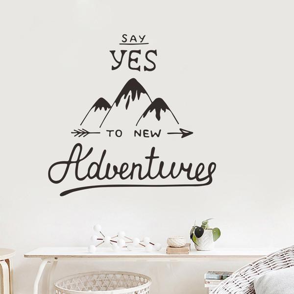 À L'aventure Stickers Home Salon Étude Bricolage Acheter Decor De3 Pour Voyage Du Le 52 Aventure Vinyle Muraux Dites Oui PZNOwX0k8n