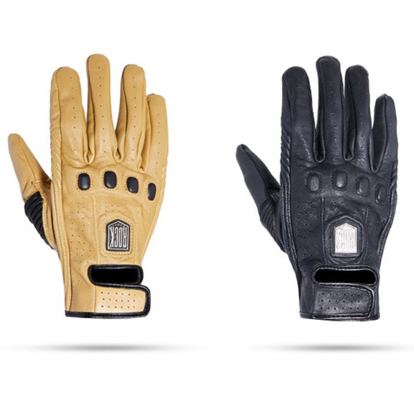 Motorcycle Gloves Retro Full Finger Leather women&men universal Vintage Moto Motorbike Biker Cafe Protective Gears Racing Glove