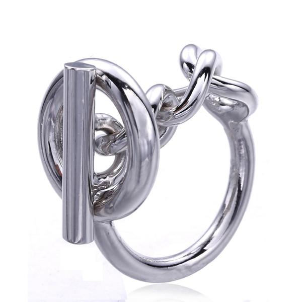 Chaîne de corde en argent sterling 925 avec serrure pour cerceau pour femmes Français populaire fermoir anneau en argent sterling faisant des bijoux