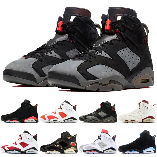 best selling PSG Black Infrared 6 6s Basketball Shoes Mens Top Quality Black Cat Green Suede Tinker Hatfield Mens Designer Shoes Sport Sneakers