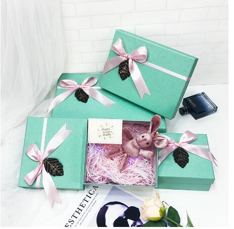paper box custom Gift Boxes bags Square Wedding Favors Party Lovers Gift Boxes party wrapping supplies
