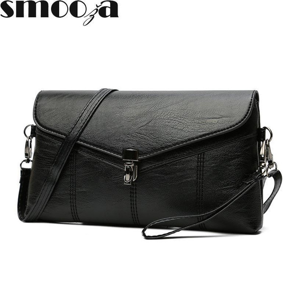 SMOOZA Women Messenger Bags Sac A Main Soft Leather Shoulder Bags Women Crossbody Bag Lady Designer High Quality Handbags