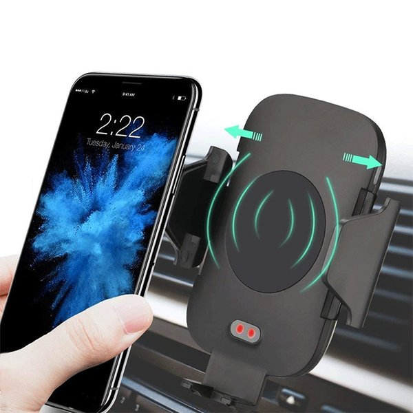 save off c5b97 f5673 C9 Fast Wireless Car Charger & Automatic Induction Car Mount Air Vent Phone  Holder Cradle, For IPhone 8/ 8 Plus/ X Samsung S9 S8 Power Bank Black Cell  ...