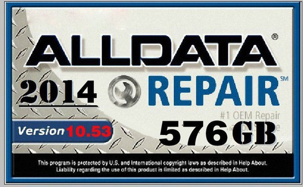 Newest 2019 Alldata 10.53 all data auto repair software alldata Software in 640GB HDD usb3.0 for cars and trucks fit windows 7/8