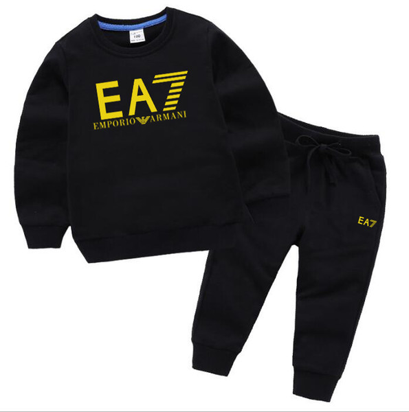 NEW Baby Boys 2-8years Girls Suit Brand Tracksuits 2 Kids Clothing Set Hot Sell Fashion Spring Autumn Children's Dresses Long Sleeve Sweater