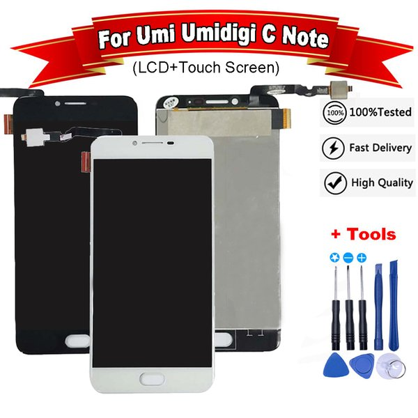 For Umi Umidigi C Note LCD Display + Touch Screen Digitizer Assembly for umi c note lcd Android 7.0 MTK6737T +Tool