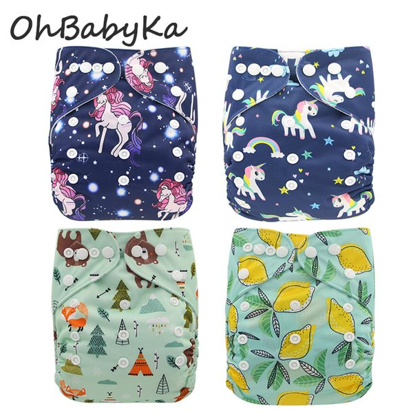 top popular Pineapple Flamingo Baby Washable Cloth Diaper Cover Brand Animals Printed Baby Reusable Nappies for Baby Potty Training Pants FREE SHIPPING 2019
