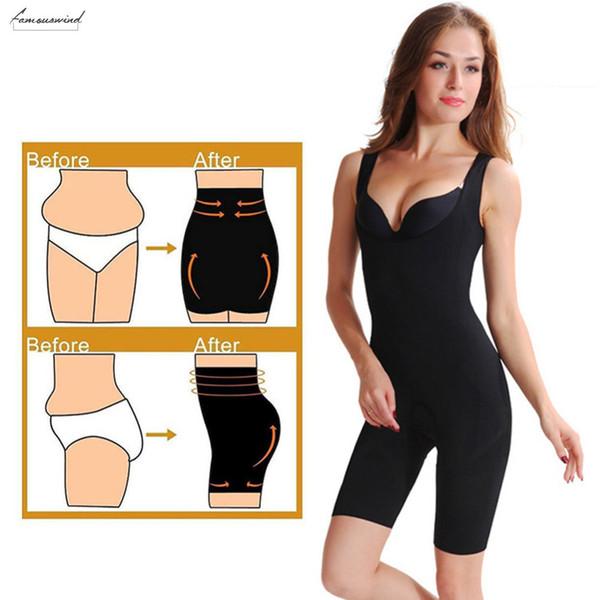 Корректирующее белье Женщины Bodysuits Shaper Lift животика Тонкий Заднее управления Shapewear волокна бамбука Бесшовные Bodysuit Пояса тела Bodysuits