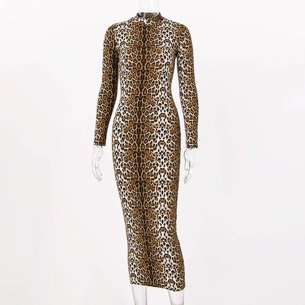leopard long dress B