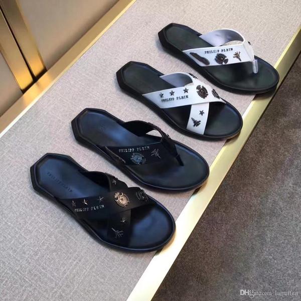 217ss Designer professionisti del marchio progettano sandali da uomo, tessuti in pelle importati, qualità confortevole, 38-45yards