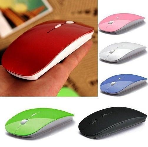 1pc Ultra Thin USB Optical Mouse sans fil 2.4G Récepteur Souris sans fil Ordinateur portable PC de bureau Sunrise