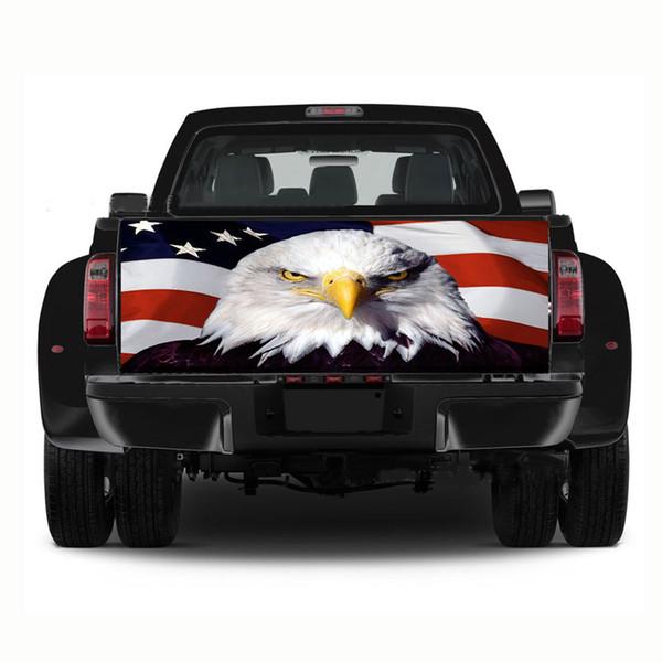 1 PCS Bandeira Eagle Defletor Envolvido Caminhão Decalque Do Carro Arquivo Traseiro Rodeado Gráficos de vinil adesivo
