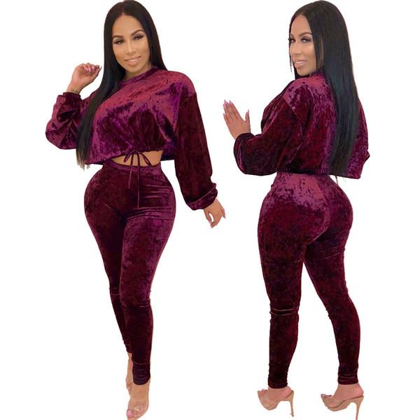 Women Long Sleeve Bodysuit Velvet Rompers Women Jumpsuit Hollow Sexy Overalls For 3027
