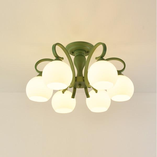 Group flower ceiling lamp, iron frame glass cover, modern style,110v 220v wide volt adapter, incandescent/LED bulb,3 colors body