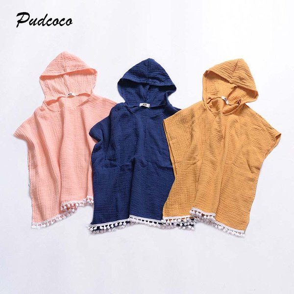 2019 Brand Toddler Kids Baby Girl Long Cape Dress Hoodies New Summer Batwing Sleeve Hooded Tassel Cloak Poncho Jumper Clothes