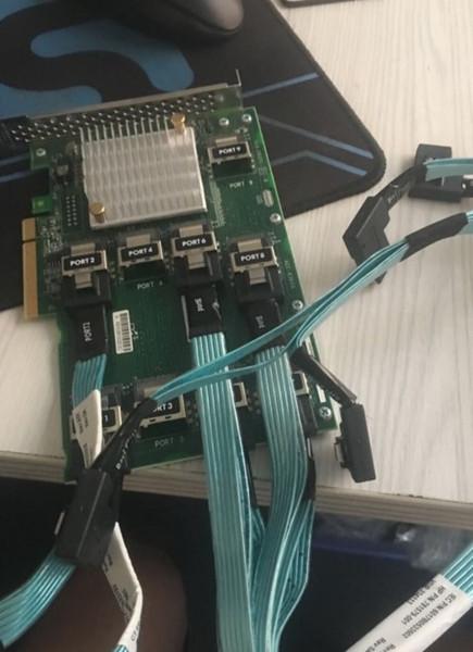 top popular DL380 G9 SAS Expander Card with 6pcs minisas cable 761879-001 727252-001 727250-B21 2021