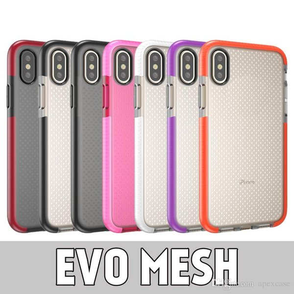 Evo Mesh Soft TPU Protective Phone Case For iPhone X XR XS MAX 8 7 Plus Samsung S8 S9 S9 Plus Note 9