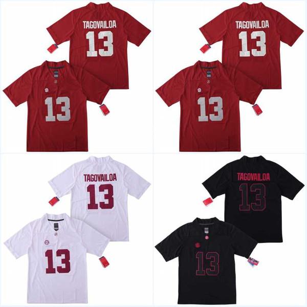 Erkekler NCAA Yeni Alabama Crimson Tide # 13 Tua Tagovailoa Kolej takımı Formaları Gömlek Üniforma Ucuz Dikişli Nakış