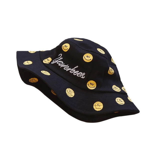 2019 new cute smiling Baby Hat Kids Summer Hats Kids Hats girls Sun Hat boys Bucket Hat Children Caps Baby Boy Hats Boys Caps A5237