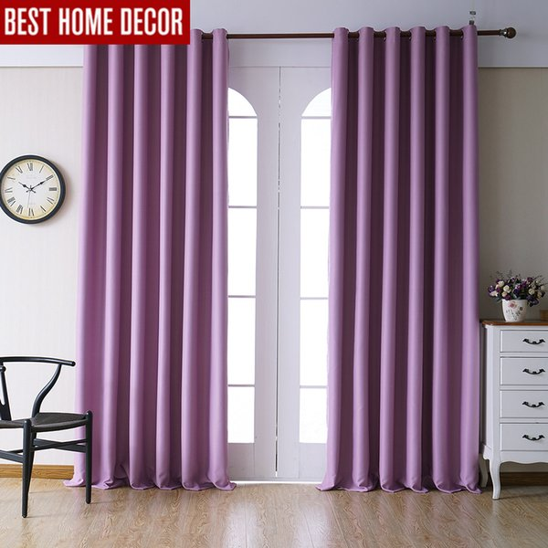 2019 Modern Blackout Curtains For Living Room Bedroom Curtains For Window  Drapes Pink Finished Blackout 1 Panel Blinds From Fair2015, $22.73 | ...