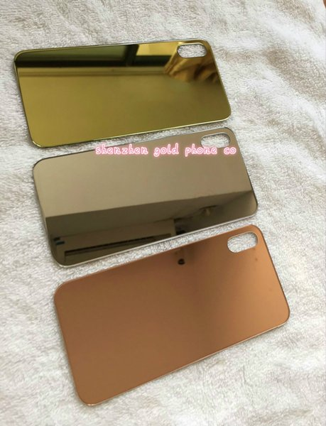 original For iPhone x Battery Cover Door Back Glass Housing Replacement back glass 24ct gold rose gold with Adhesive Sticker