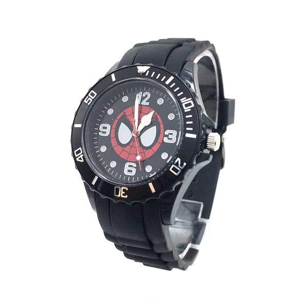 Cartoon Kids Spiderman Watches Men Quartz Watch Student Black PU Strap Sports Wristwatch Hot fashion Children Boy Clock gifts drop shipping