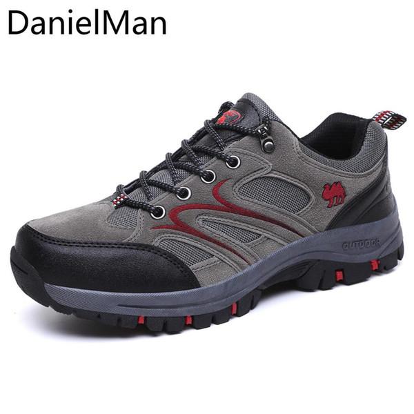 DanielMan Printemps Automne Mesh respirant Confortable Chaussures Hommes Chaussures Chaussures camping en plein air Chaussures Homme Casual