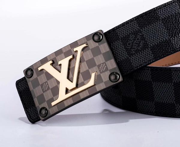 Yeni Siyah renk Lüks Yüksek Kalite Tasarımcı Kemerleri Moda Geometrik desen toka kemer erkek bayan kemer ceinture isteğe bağlı