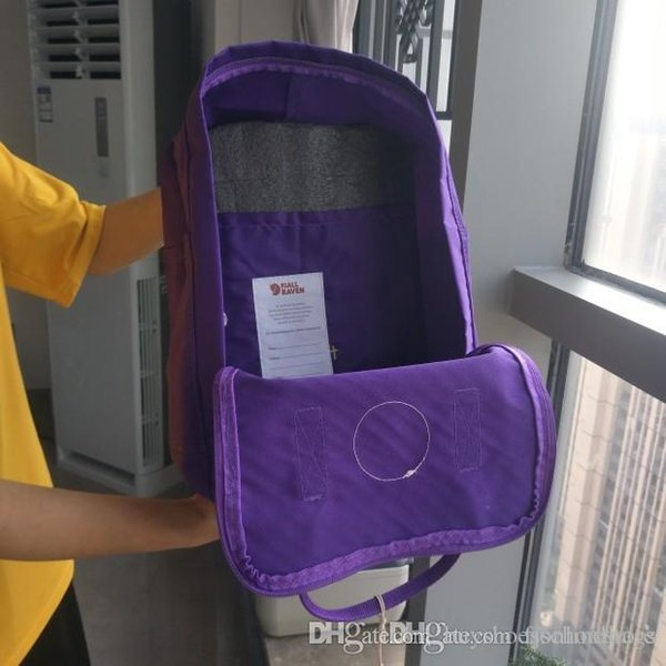 Fashion Brand Fjallraven Kanken Classic Deep Purple Backpacks Double Zipper Canvas Bags 16L Casual Backpacks Fashion Computer