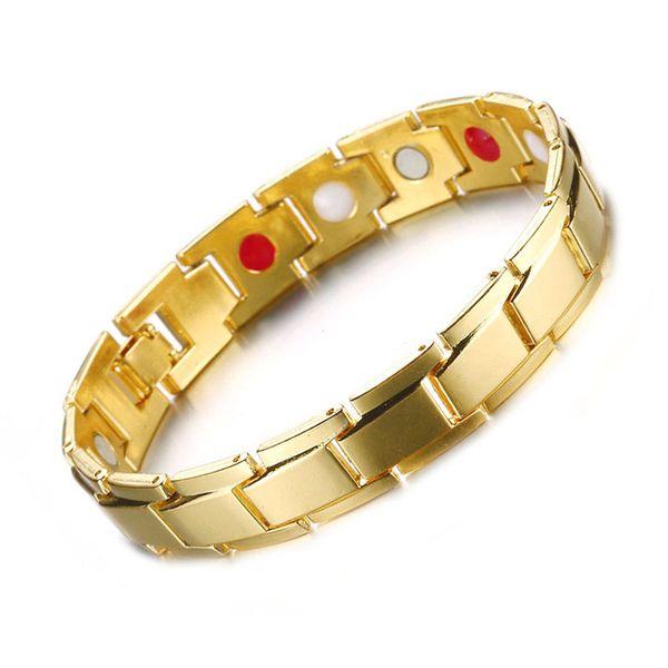 best selling Mens Black Bracelet Black Copper Magnetic Bracelets For Men Women Arthritis Therapy Energy Balance Healing Pain Relief Bracelet Bangles