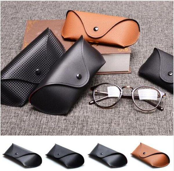 2019 Fashion Hot Sale Men Women Portable Glasses Case Magnetic PU Leather Fold-able Glasses Box For Eyeglass oversize Sunglasses