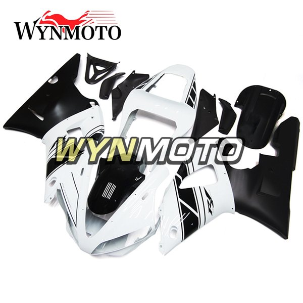 New vMotorcycle Fairings For Yamaha YZF 1000 R1 2000 2001 ABS Plastic Injection motorbike cowlings yzf 1000 r1 covers full Set white Black