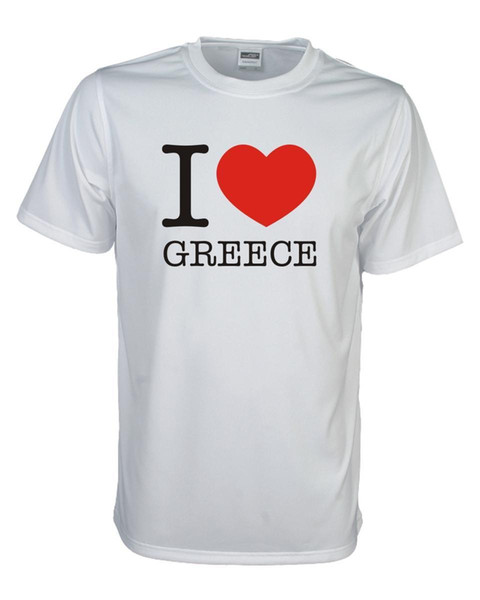 Футболка Я люблю GRIECHENLAND (Греция) Länder Fanshirt Loveshirt S-5XL (WMS11-23)смешные бесплатная доставка унисекс повседневная футболка