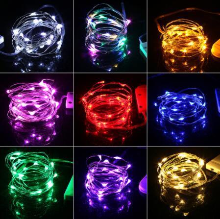 2 Mt 20 leds Batterie Kupferdraht Fee Girlande LED lichterketten Urlaub beleuchtung Für Weihnachtsbaum Hochzeit Dekoration