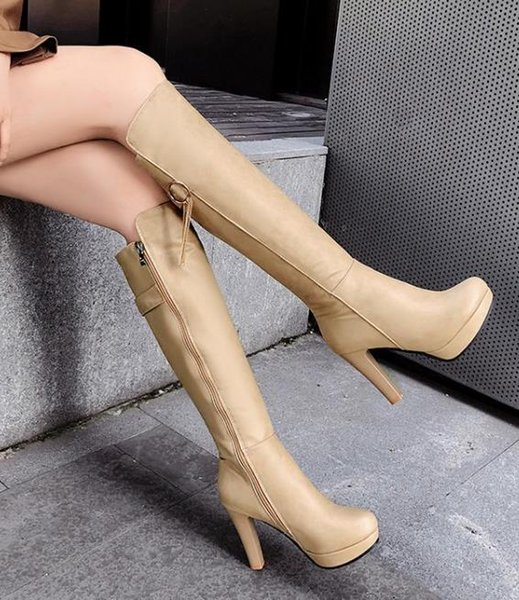 Plus size 34 to 40 41 42 43 womens knee high boots with tassels winter luxury designer women boots