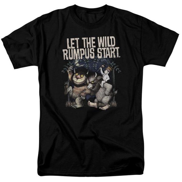 Onde As Coisas Selvagens São Selvagens Rumpus Licenciado Adulto Camiseta Impressão T-shirt Estilo Verão Top Tee Mais Novo 2019 Moda Masculina