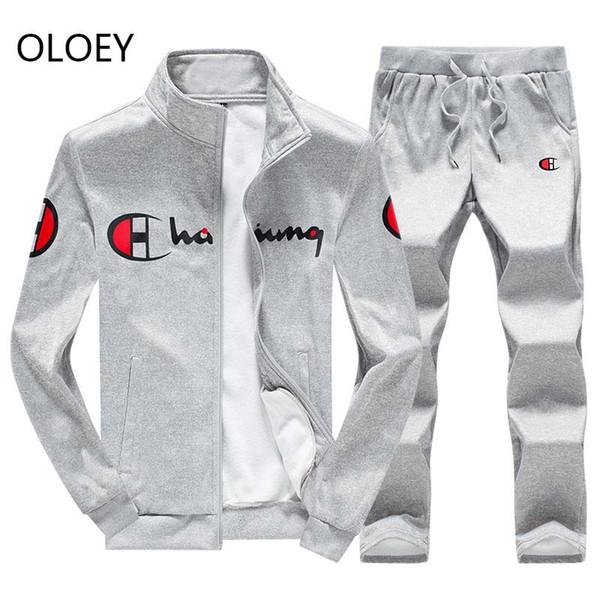 OLOEY mens clothing man sets jogger suit track suits 2 piece tracksuit sweatshirt & sweatpants Jogging men set casual streetwear
