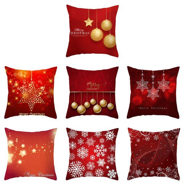 christmas pillowcase santa claus christmas tree elk snowflake gilded pillowcase pattern printing car hug