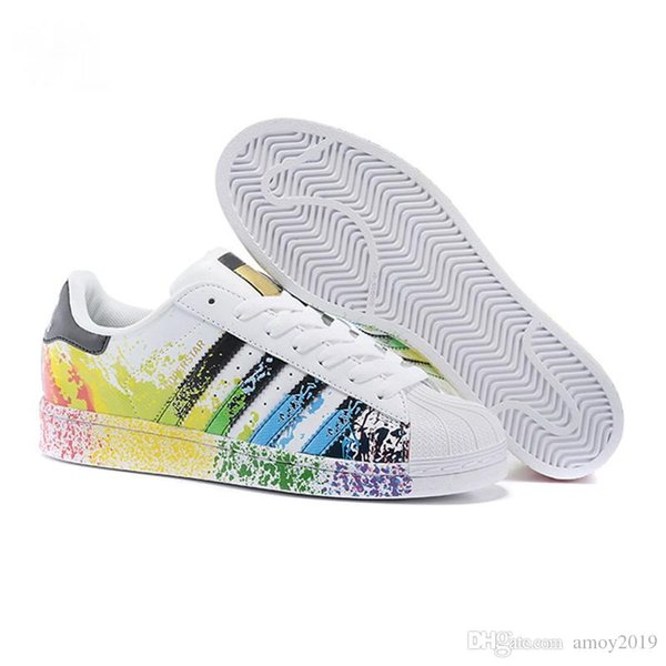 2019 Super Star White Hologram Iridescent Junior Superstars 80s Pride Womens Mens Trainers Superstar Casual Shoes Size 36 45 Sport Shoes Skechers