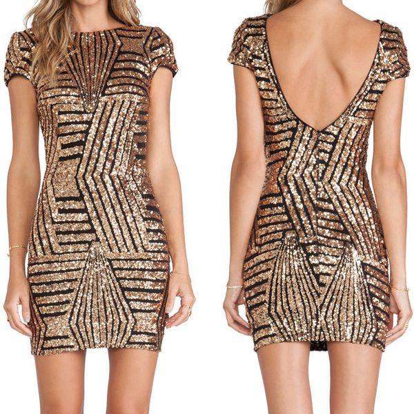 Летнее женское платье блесток партия плотно Сексуальная Вечерняя мода Холтер короткая сумка хип платье черный S-2XL