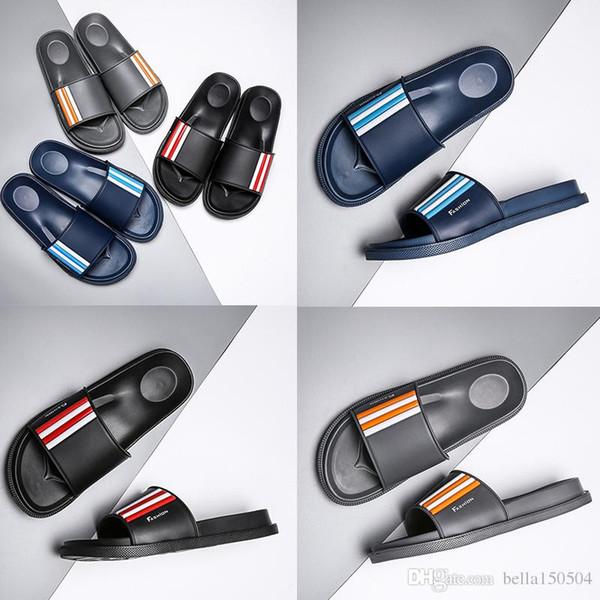good quality Designer luxury slipper Gear bottoms mens striped sandals causal Non-slip summer huaraches slippers beach flip flops