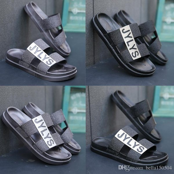 Newest European Brand Summer Slippers designer sandals Men Breathable Beach Flip Flops Casual Slip-on Flats Sandals Men Shoes GOOD QUALITY