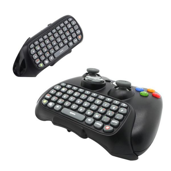 Mini teclado mando inalámbrico Text Messenger teclado 47 teclas del teclado Chatpad para Xbox 360 Controlador de juego Negro