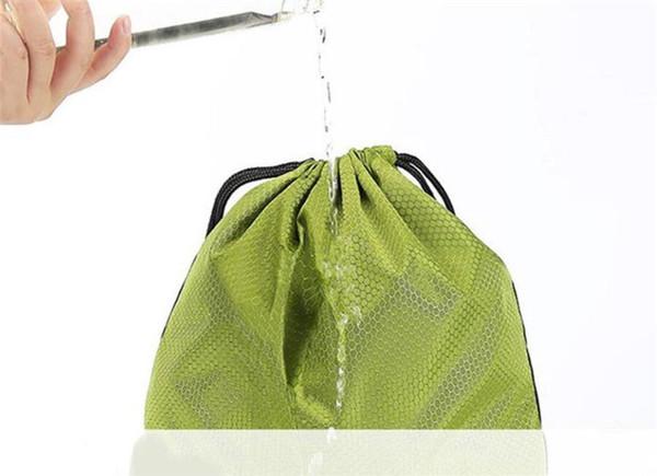 Simple Shoe bags Travel Wash bag Dust Bag Organizer Stuff Sacks Waterproof Oxford Cloth Drawstring Backpack Sports Gym 4pc Color