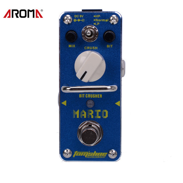 AROMA AMO-3 Mario Bit Crusher Pedal de efecto de guitarra eléctrica Mini efecto individual con True Bypass
