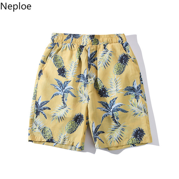 Neploe verão mulheres homens havaiano calções de verão calções causais harajuku 3d abacaxi frutas imprimir holiday casual boardshorts 38709