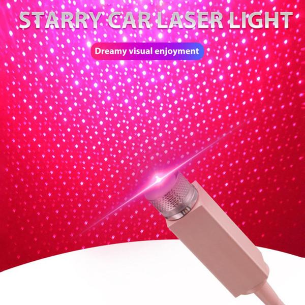 Universal Mini LED voiture toit étoiles Night Lights Projecteur d'éclairage intérieur ambiant atmosphère Galaxy lampe décoration lumière USB Plug