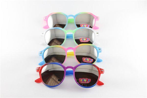 Kinder Vintage Runde Sonnenbrille Neue Ankunft Trendy Jungen Mädchen UV400 Designer Brille Teenager Mode Rahmen Kinder Pfeil Eyewear 239